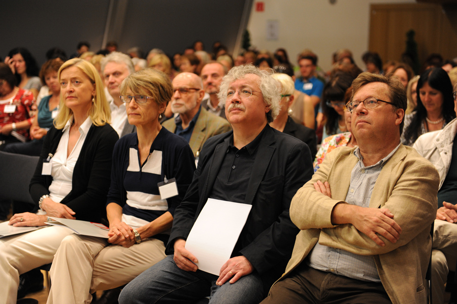Konferenz: Johanna Rachinger, Ida Dehmer, Karl-Markus Gauß und Rüdiger Wischenbart_Copyright BVÖ/Michaela Bruckmüller