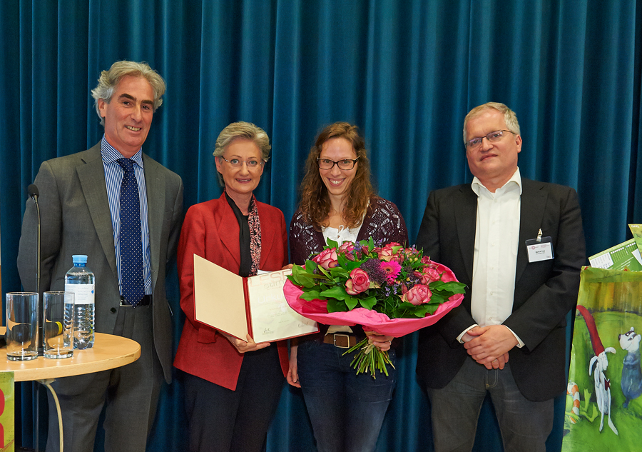 LESERstimmen-Preisverleihung: Gerald Leitner, Claudia Schmied, Michaela Holzinger und Markus Feigl_Copyright BVÖ/Peter Kubelka